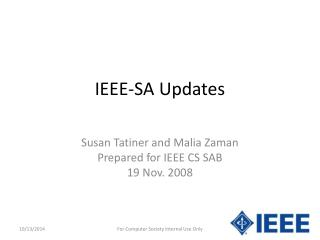 IEEE-SA Updates