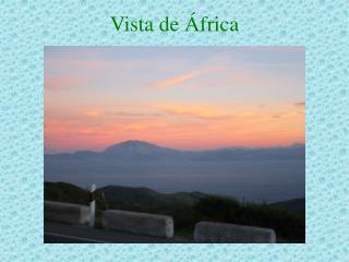 Vista de África