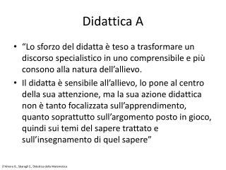 Didattica A