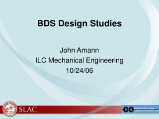 BDS Design Studies