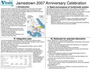 Jamestown 2007 Anniversary Celebration
