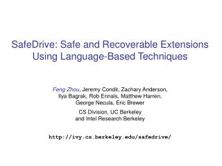 SafeDrive: Safe and Recoverable Extensions Using Language-Based Techniques