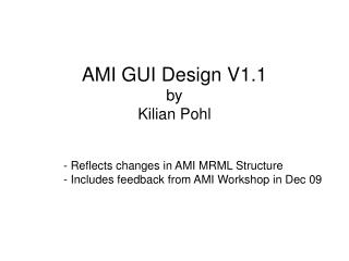 AMI GUI Design V1.1 by  Kilian Pohl