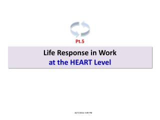 Life Response in Work at the  HEART Level