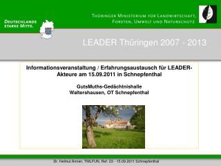 LEADER Thüringen 2007 - 2013