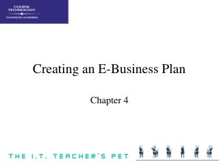 Creating an E-Business Plan