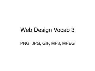 Web Design Vocab 3