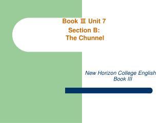 New Horizon College English      Book III
