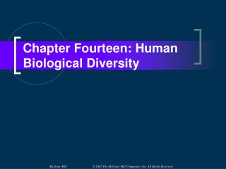 Chapter Fourteen: Human Biological Diversity