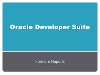 Oracle Developer Suite