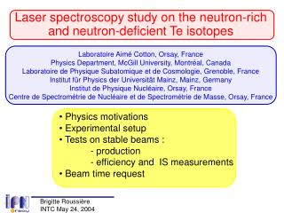 Laser spectroscopy study on the neutron-rich and neutron-deficient Te isotopes