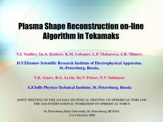 Plasma Shape Reconstruction on-line Algorithm in Tokamaks