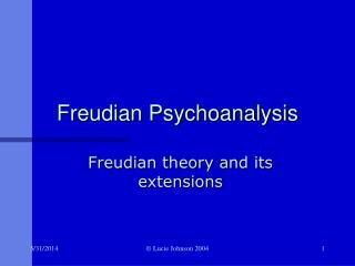 Freudian Psychoanalysis