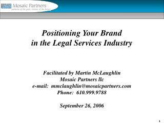 Positioning Your Brand in the Legal Services Industry