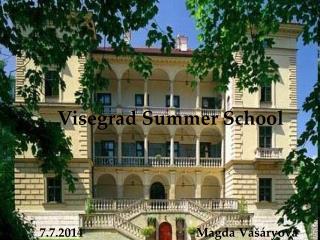 Visegrad Summer School