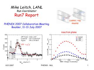 Mike Leitch, LANL Run Coordinator Run7 Report PHENIX 2007 Collaboration Meeting
