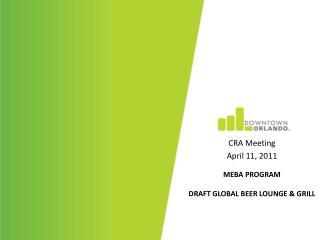 MEBA Program Draft global beer lounge & grill