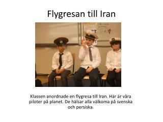 Flygresan till Iran