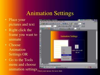 Animation Settings