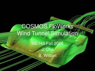 COSMOS FloWorks  Wind Tunnel Simulation