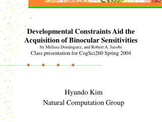 Hyundo Kim Natural Computation Group
