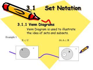 3.1Set Notation