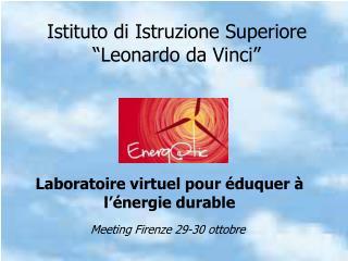 """Istituto di Istruzione Superiore  """"Leonardo da Vinci"""""""