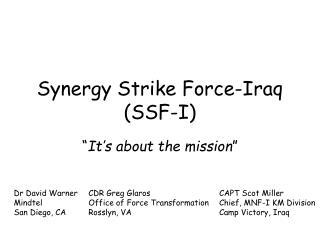 Synergy Strike Force-Iraq   (SSF-I)