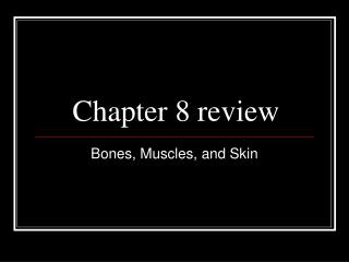 Chapter 8 review