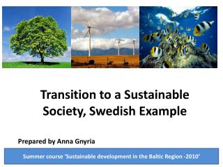 Transition to a Sustainable Society, Swedish Example