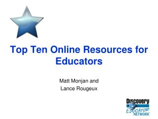 Top Ten Online Resources for Educators