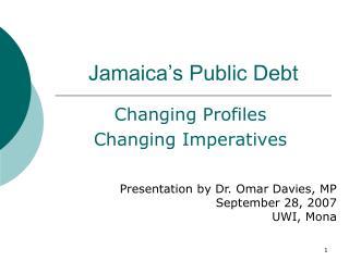 Jamaica s Public Debt