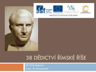 38 Dědictví římské říše