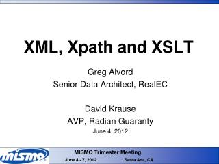 XML, Xpath and XSLT