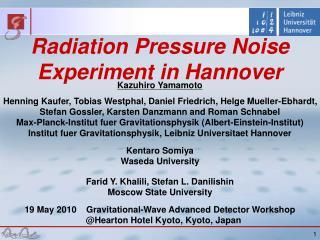 Kazuhiro Yamamoto Henning Kaufer, Tobias Westphal, Daniel Friedrich, Helge Mueller-Ebhardt,