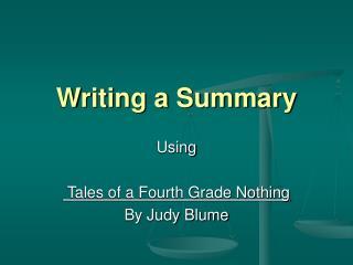 Writing a Summary