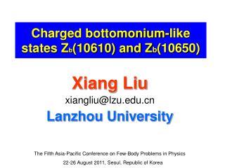 Charged bottomonium-like states Z b (10610) and Z b (10650)