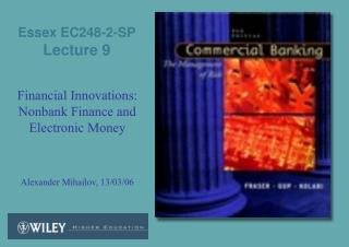 Essex EC248-2-SP  Lecture 9