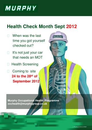 Health Check  Month Sept 2012