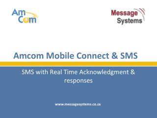 Amcom Mobile Connect & SMS