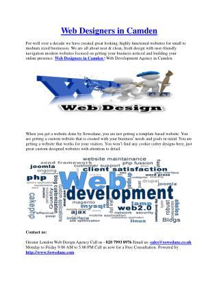 Web Designers in Camden