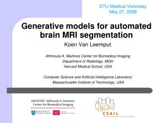 Generative models for automated brain MRI segmentation