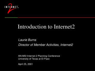Introduction to Internet2