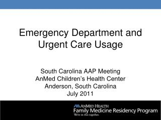 Emergency Department and Urgent Care Usage