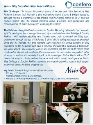 Nair – Silky Sensations Hair Removal Cream
