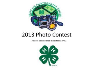 2013 Photo Contest
