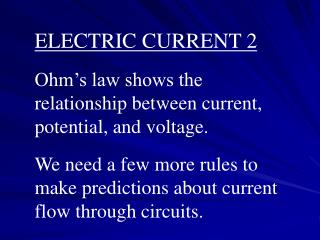 ELECTRIC CURRENT 2