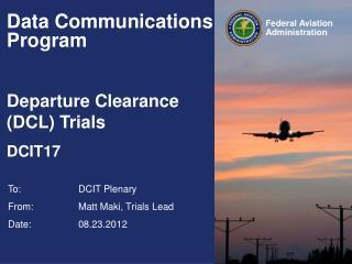 Data Communications Program