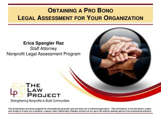 Obtaining a Pro Bono Legal Assessment for Your Organization