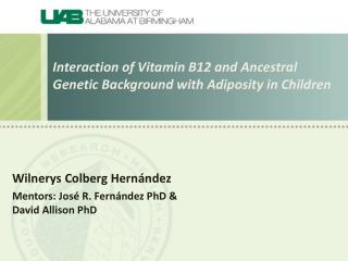 I nteraction of Vitamin B12 and Ancestral Genetic Background with Adiposity in Children